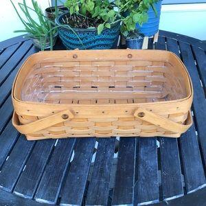 Longaberger Small Gathering Basket & Liner